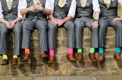 Novio: ¡Calcetines divertidos y con mucho estilo para tu boda!