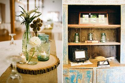 Le decorazioni perfette per un matrimonio rustico