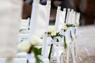 Elegante Hochzeits-Dekoration für Stühle