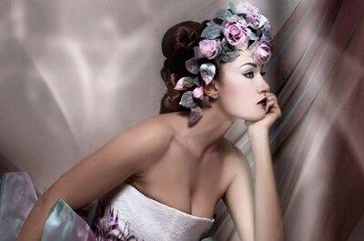 Los 10 peinados de novia con flores más estilosos