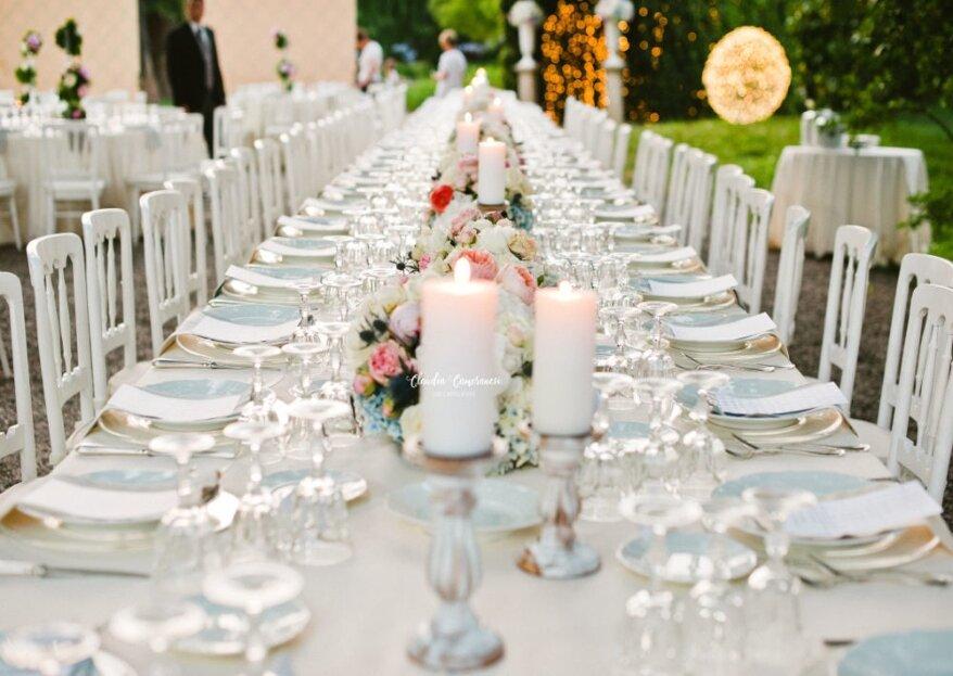 Una scelta importante per rendere l'atmosfera delle tue nozze perfetta: quella dell'allestimento floreale!