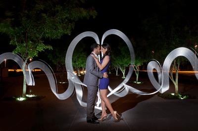 Increíbles fotografías con estelas de luz para tu boda