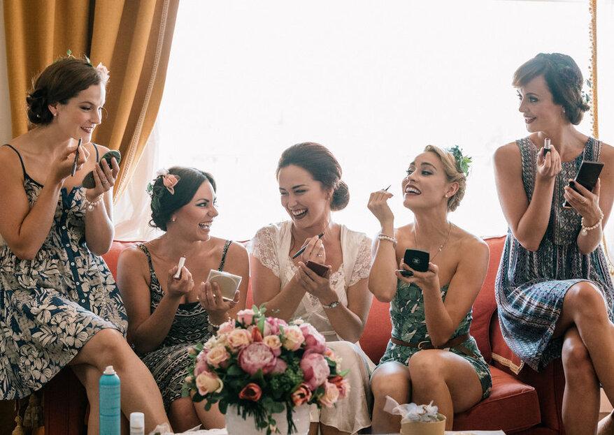 Sei stata scelta come damigella d'onore della sposa? Ecco i trucchi per sorprenderla!