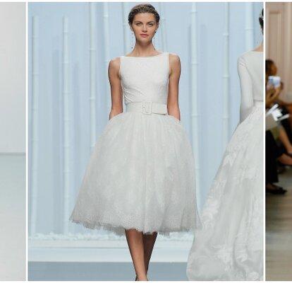 016f21f3e Vestidos de novia cortos 2016  enseña pierna el día de tu boda
