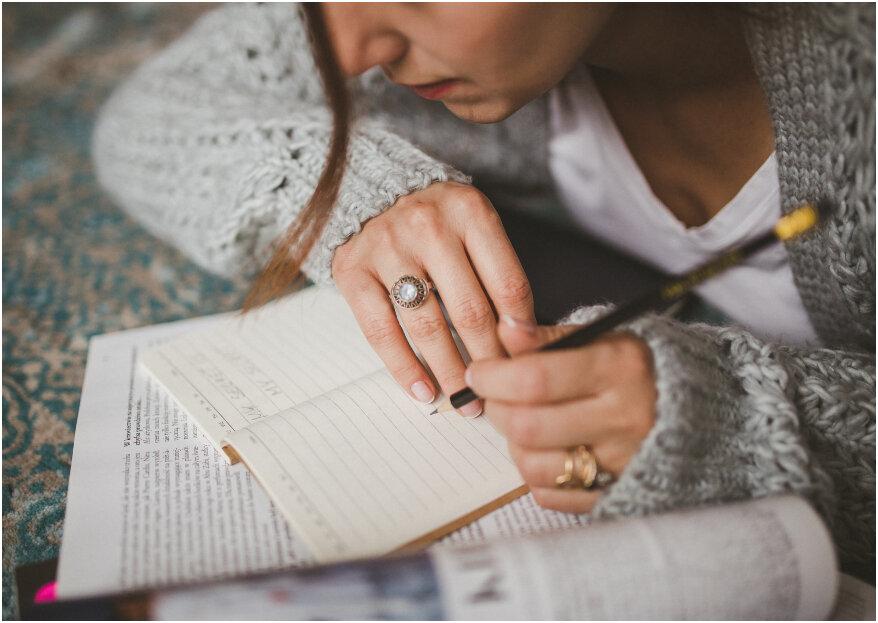 10 listas que 'sí o sí' toda novia debe hacer antes de casarse