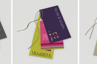 Kreative Ideen für tolle Hochzeits-Einladungskarten
