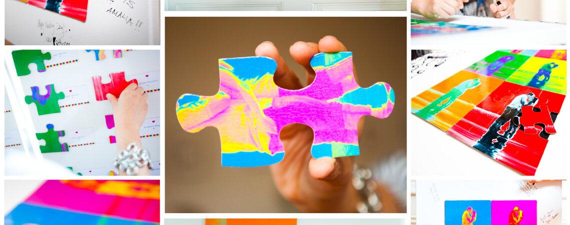 Miłosna układanka, czyli puzzle jako motyw przewodni ślubu i wesela