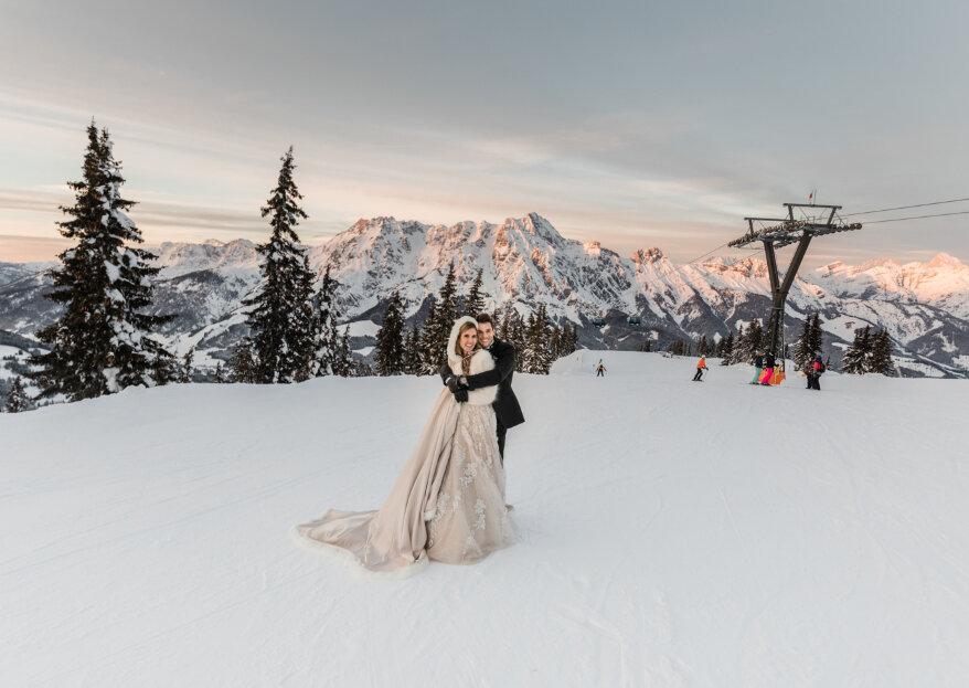 Die verschneite Januar-Hochzeit von Natascha und Klaudius