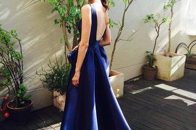 Escolha um dos vestidos de festa azuis que vão estar na moda em 2016 e arrase.