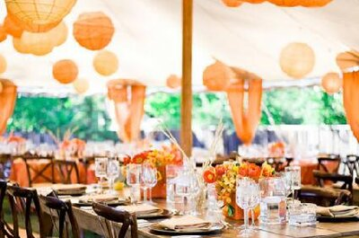 Decoración de boda en Tangerine Tango, el color 2012