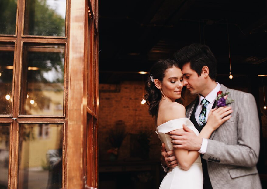 По следам Москвы: стильная городская свадьба Жени и Гриши