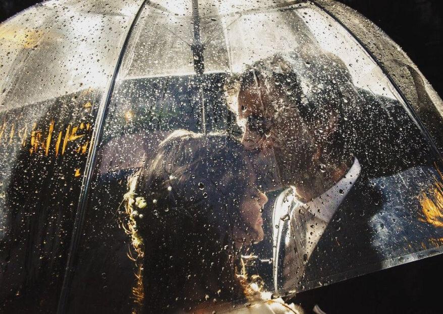 ¿Cómo sobrevivir a un matrimonio con lluvia? ¡Nada arruinará tu celebración!
