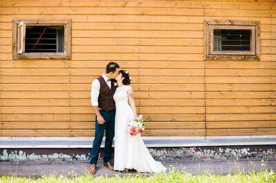 Краски лета: свадьба Ольги и Евгения за городом
