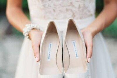 ¿Qué zapatos elegir según el vestido de novia?