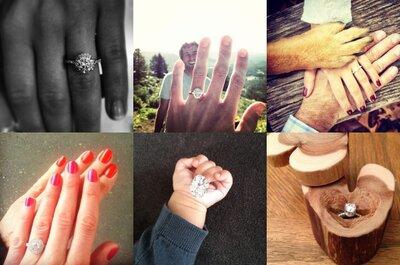 Top 10 anillos de compromiso vistos en Instagram