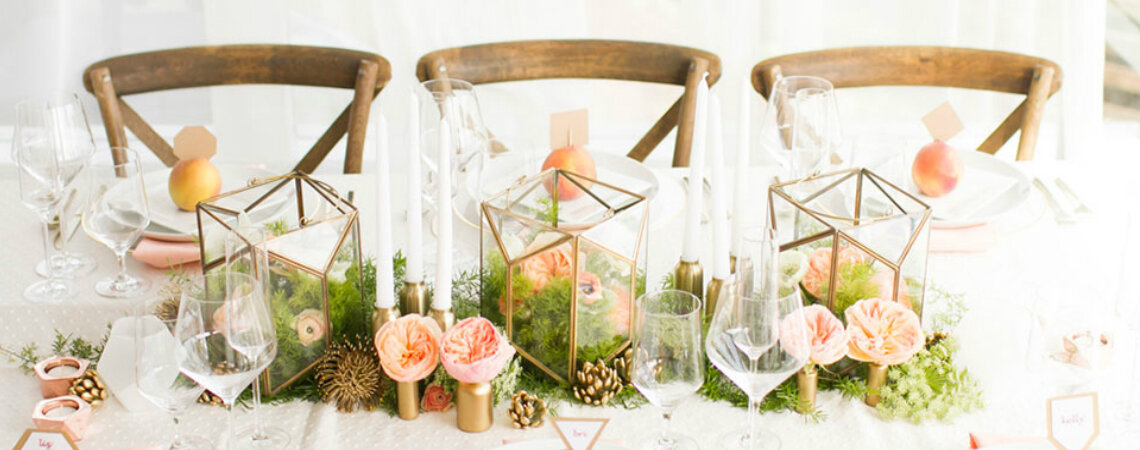 Geometric Style Details And Designs For Your Wedding Day