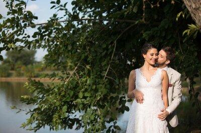 Casamento boho chic no campo de Mariana e Gabriel: inspirador!
