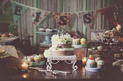 Encantadores pasteles de boda para todos los gustos