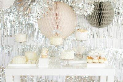 Decoración de boda inspirada en Año Nuevo