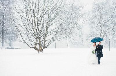 Winterwonderland: So märchenhaft schön kann eine romantische Winterhochzeit aussehen!