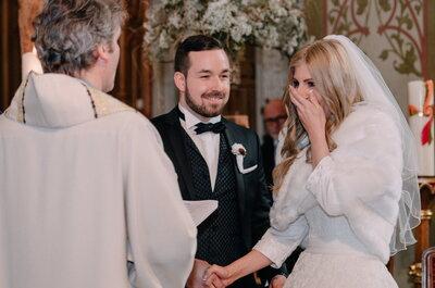 Romantische Hochzeit im Februar mit rustikaler Dekoration