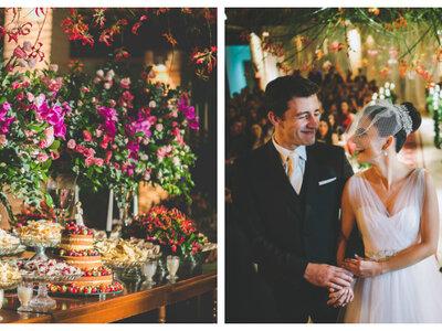 Casamento moderno em Ribeirão Preto de Greyce & Andres: arranjos aéreos harmonizaram o decor