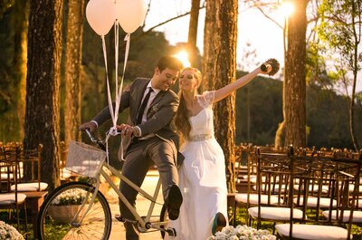 Casamento boho chic diurno e no campo de Bah & Zeh: poético!