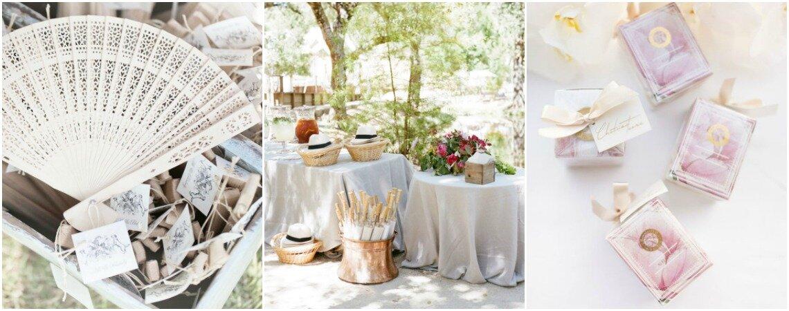 Aussergewöhnliche Details zur Erinnerung: 40 Geschenke für Ihre Hochzeitsgäste