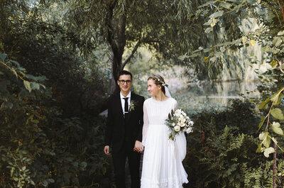 Um casamento intimo com estilo Vintage