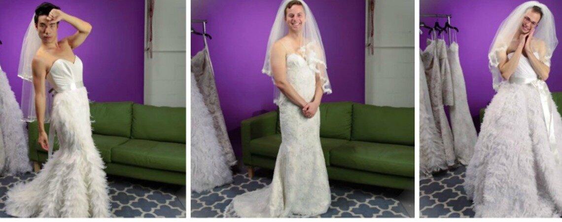 Wenn Männer Brautkleider probieren: Brautkleider-Shopping und ...