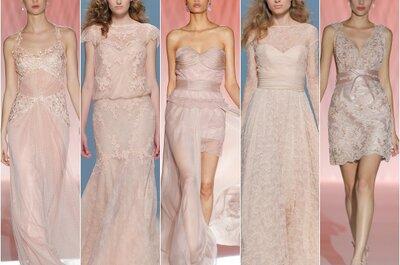 La vida en rosa: El color estrella en los vestidos de novia primavera 2015