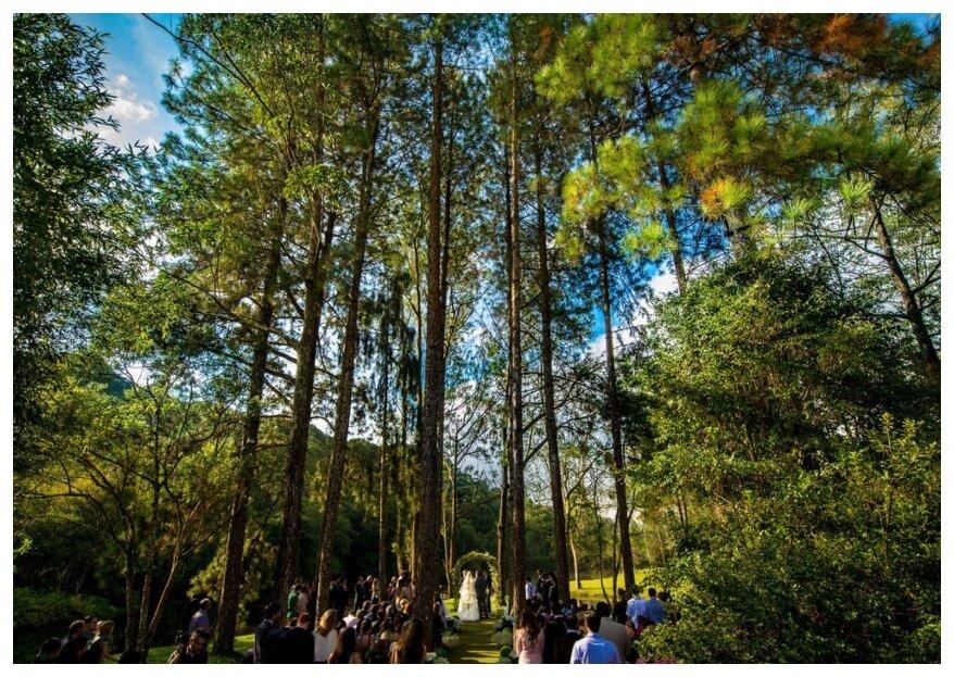 Sob as bençãos da terra: lugares para casar em meio à natureza.