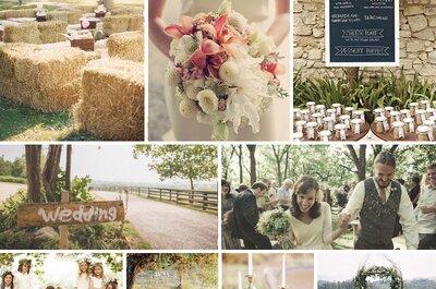 Cómo tener una boda en contacto con la naturaleza: La tendencia country chic ¡a tope!