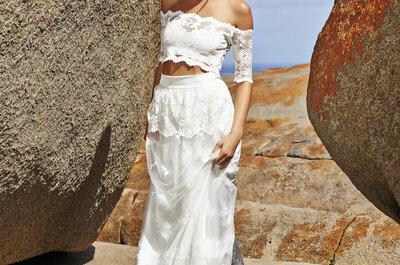 Dale un toque étnico y bohemio a tu vestido de boda