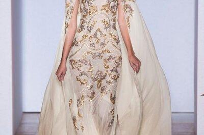 Vestidos de noiva dourados de Zuhair Murad