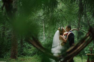 Лесная сказка: свадьба Дмитрия и Лидии в насыщенной цветовой гамме