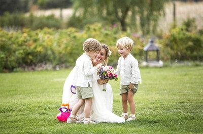 ¿Niños en la boda? 5 ideas para mantenerlos entretenidos