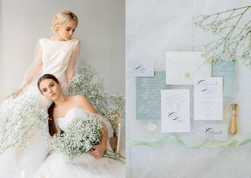 Нежные и минималистичные: образы для весенней свадьбы