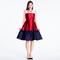 Vestido con franjas de colores en color blanco, rojo y azul marino para agregar a tu mesa de regalos Zankyou para San Valentín