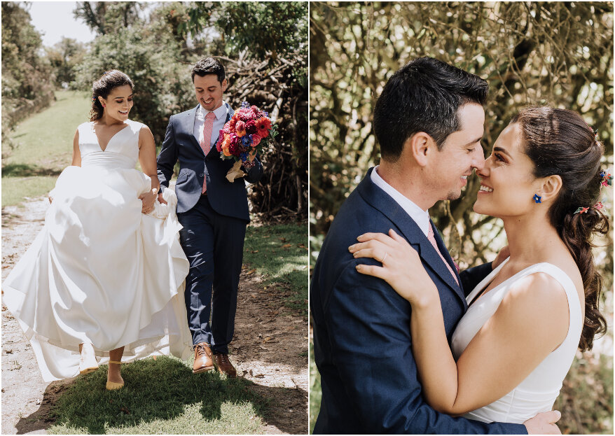 Cata y Matt: cuando el amor florece, lo hace en cualquier lugar del mundo