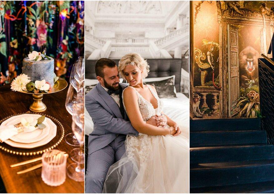 Styled Shoot: City Hochzeit im kleinen Kreis – Moderne trifft Historie