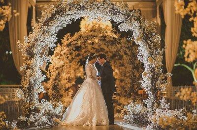 Casamento clássico de Jaine e João Paulo: SUPER romântico e com muitas orquídeas!
