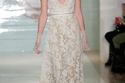 Colecção de Primavera de Noivas 2015 de Reem Acra na NY Bridal Week