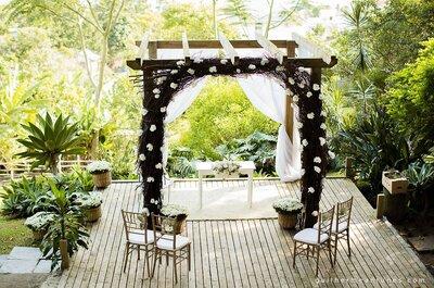 Casamento lindo de Elisa & Gustavo: festa incrível e emocionante ao ar livre!