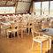 Decoración de mesas de boda sin mantel