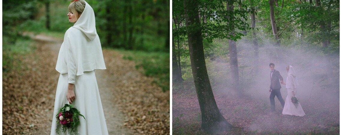 Waldrast Tete á Tete: Romantische Hochzeitsinspiration im Herbstwald!