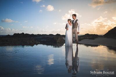 Direction la Guadeloupe avec le mariage idyllique sur la plage d'Élodie et Vincent