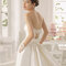 Backless dress with decorative bows