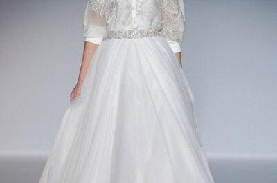 Vestidos de novia escote ilusión de las tendencias 2014