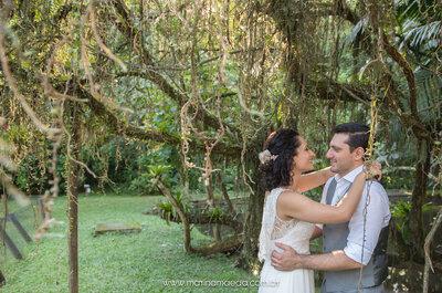 Casamento no sítio de Thaís e Roberto: lindo, romântico e muito animado!